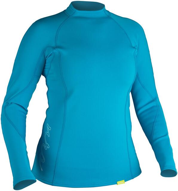 NRS W's HydroSkin 0.5 L/S Shirt Azure Blå